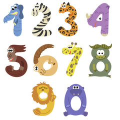 Numbers like african animals