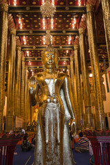 Gold Buddha in Chang Mai