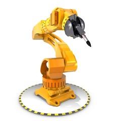 Robot arm, 3D Illustration