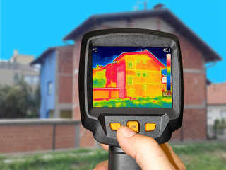 Recording House with or without facade With Thermal Camera