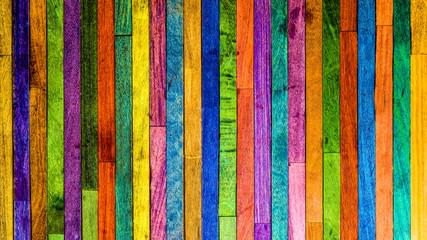 lames de bois multicolore