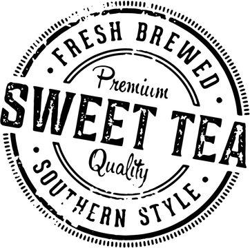 Vintage Sweet Tea Southern Style Stamp