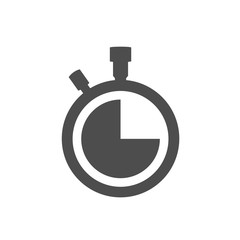 Stopwatch clock vector icon isolated on white background