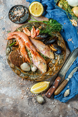 Photo of fish, shrimp, shellfish