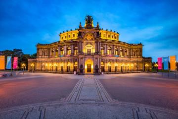 Semperoper in Dresden, Sachsen, Deutschland