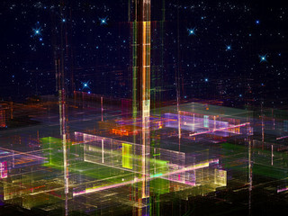 Abstract future city - digitally generated image