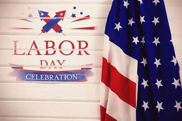 Composite image of digital composite image of labor day celebrat