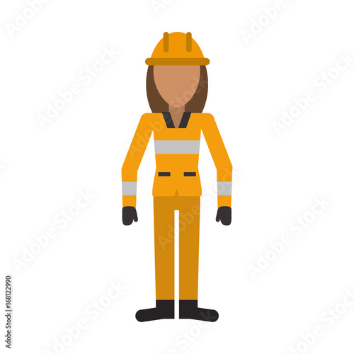 "Avatar 2 X 12: ""female Firefighter Avatar Icon Image Vector Illustration"