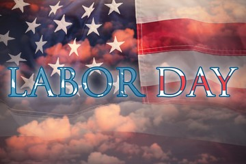 Composite image of poster of  labor day text