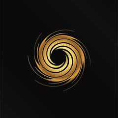 Abstract Golden swirl image. Concept of hurricane