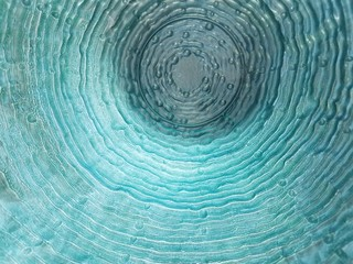 Blue glass with ripples