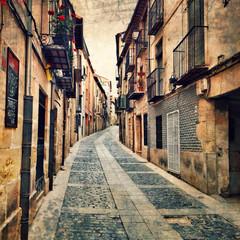 Photo sur Plexiglas Ruelle etroite street