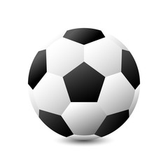 Isolated Soccer ball or Football on white background 3d vector graphic design concept