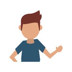 man lifting hand  avatar icon image vector illustration design