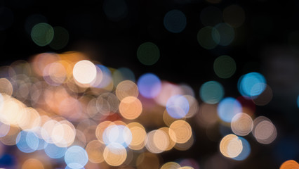 Colorful bokeh from night light