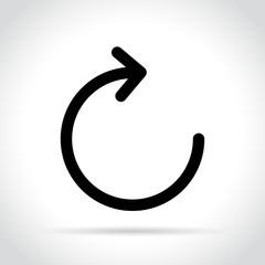 refresh icon on white background