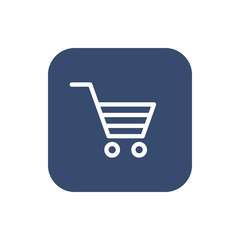 Shopping Cart icon. Flat design. Vector illustration
