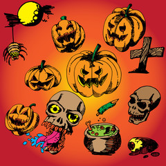 31 October Halloween vector design background