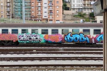 Art Crime - Caltanissetta Central Station, Sicily
