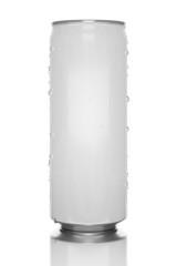 white energy drink tin