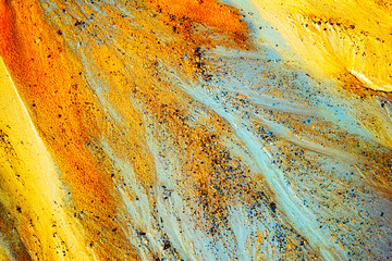 Abstract color sand texture, top view