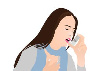 Asthma Patient using Inhaler