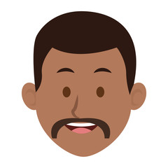 man character face avatar male vector illustration