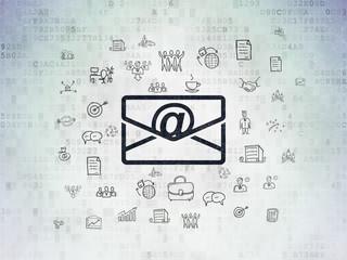 Finance concept: Email on Digital Data Paper background
