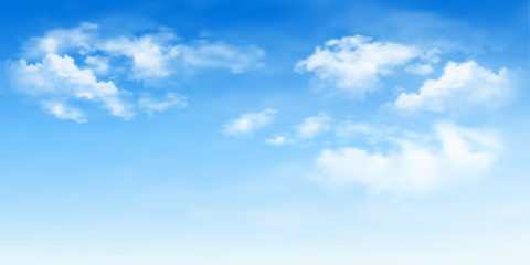 Background with clouds on blue sky. Blue Sky vector Wall mural
