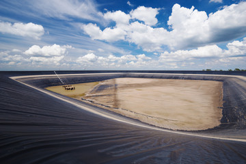 dry Lam Takong reservoir, Nakhon Ratchasima, Thailand