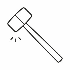 Hammer vector icon