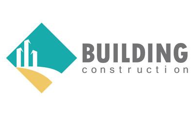 square building construction logo
