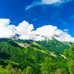 Poster de jardin Vert Caucasus mountains. mountain landscape