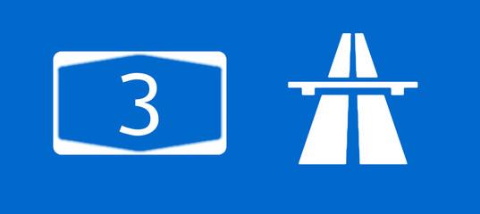 A3 Bundesautobahn Schild