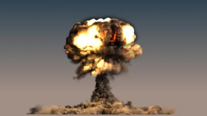 nuclear explosion mushroom cloud
