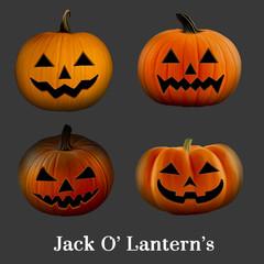 Halloween Jack O' Lantern's set