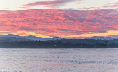 Pink Cloud Sunset Seascape