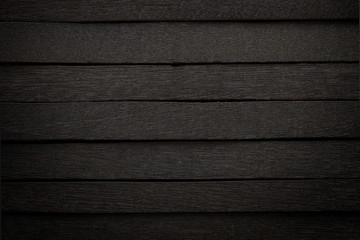 Black Wood Panel In Dark Style For Background