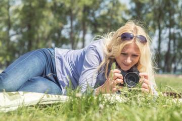Professional woman photographer