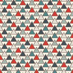 Repeated triangles background. Simple abstract wallpaper with geometric figures. Seamless surface pattern