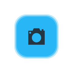 Vector Illustration Of Camera Icon. Beautiful Map Element Also Can Be Used As Photo Device Element.