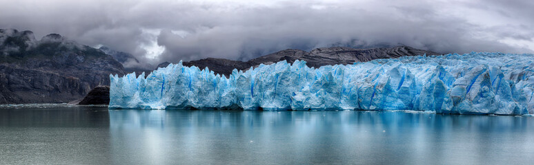 Grey Glacier at Torres del Paine NP, Patagonia, Chile - HDR panorama