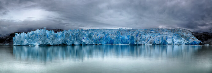 Papiers peints Glaciers Front of Grey Glacier at Torres del Paine NP, Patagonia, Chile - HDR panorama