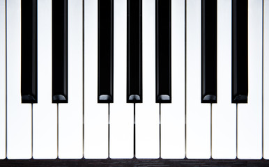 piano keys-top view