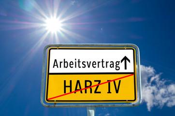 Arbeitsvertrag/Harz IV Ortstafel