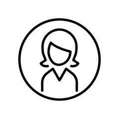 Premium user icon or logo in line style