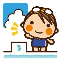 がっこうKids 水泳女子 スタート