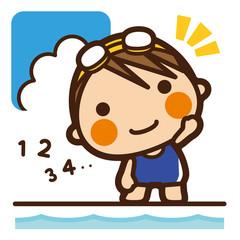 がっこうKids 水泳女子 準備運動