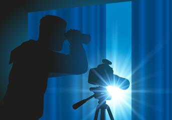 espion - détective - jumelles - espionner - enquête - paparazzi
