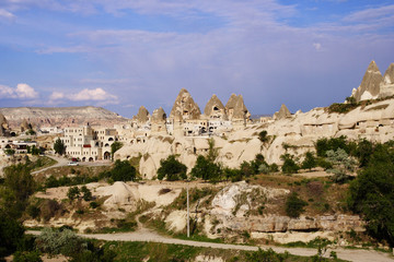 Valley of Uchisar, a cave city.
